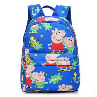 小猪佩奇卡通儿童书包 幼儿园中大班3-6岁大容量防水双肩背包佩琪 小猪佩琪双肩 天蓝色