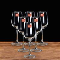 20191221192517792350ML红酒杯套装四只装家用醒酒器玻璃酒杯架高脚杯酒具