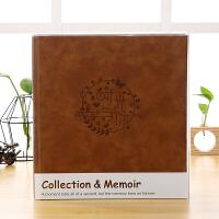 简约大容量5寸6寸过塑插页式家庭记录影集宝宝相册成长纪念册本家居日用相册 +加厚PET透明盒