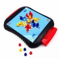 早教玩具亲子互动儿童磁性飞行棋斗兽棋跳棋五子棋中国象棋带收纳