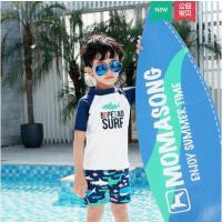 宝宝泳衣户外儿童分体短袖防晒泳装温泉保暖男童泳衣冲浪服新款男宝泳裤