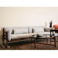 黑胡桃实木三人沙发北欧简约实木沙发罗汉床客厅三人沙发 其他