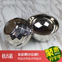 铁碗韩式双层不锈钢碗儿童吃饭碗隔热防烫家用防摔碗加厚 16CM / 18CM2个装