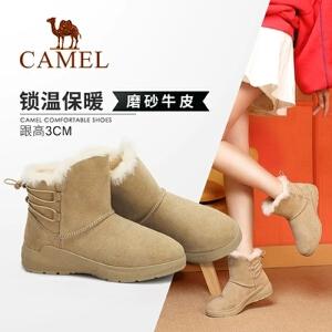 Camel/骆驼女鞋 2018冬季新款 时尚日常休闲平跟舒适动感雪地靴女