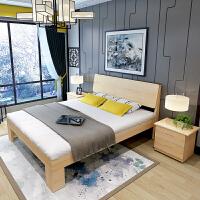 北欧实木松木床架单人床1.2 1.5米双人床1.8 1米经济型床 加高原木床加抽屉加床垫耶梦维 4