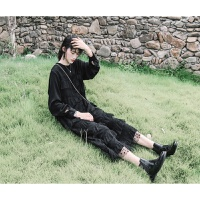 波点连衣裙秋冬女2018长袖chic小黑裙初恋复古港味长裙 黑波点 预定8-12天发货