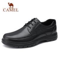 camel骆驼男鞋 秋冬新款男士商务休闲皮鞋牛皮休闲系带办公通勤鞋