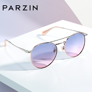 帕森女士偏光太阳镜 金属复古圆框迷幻炫彩潮墨镜驾驶镜 2019新品91607