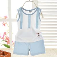 儿童背心短裤两件套薄款宝宝夏装婴儿套装男女童夏季衣服