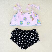 儿童游泳衣女童女孩泳装公主比基尼宝宝分体裙式小中大童泳衣带帽