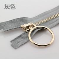 圆环金齿属铜拉链齿开口拉练大圈圈衣服门襟外套羽绒服拉锁