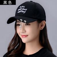 鸭舌帽韩版棒球帽嘻哈帽遮纯色帽子女个性潮时尚户外阳帽春夏情侣