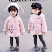 新款女宝宝季棉衣1-2-3-4岁加厚棉袄女童婴儿童装外套韩版