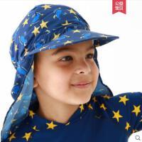 新颖儿童户外运动遮阳帽韩版沙滩海边防晒紫外线护脖男女宝遮阳帽鬼子帽
