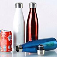 500毫升水杯 不锈钢杯子保温杯 可乐瓶双层真空保温瓶学生可乐瓶 水杯子 男女运动时尚水壶