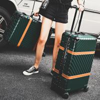铝框拉杆箱女万向轮16寸18寸22寸24寸26寸拉杆箱皮箱女新品男潮韩版个性登机密码硬箱29旅行皮箱 墨绿色 磨砂系列