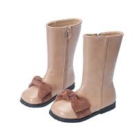 女童靴子2018新款春秋冬季马丁靴韩版公主鞋中筒儿童高筒皮靴长靴