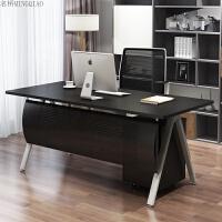 办公家具老板单人桌办公桌三升现代大班台经理桌简约办公 +柜椅