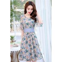 夏天碎花连衣裙2018新款女装夏装韩版显瘦中长款气质夏季雪纺裙子