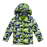 迷彩儿童羽绒服短款连帽加厚保暖男童女童宝宝童装外套