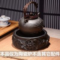 红兔子仿日本茶道手工电陶炉煮茶器烧水壶铁壶铸铁泡茶铁茶壶烧水壶生铁煮水壶煮茶器电陶炉茶炉功夫茶具套装