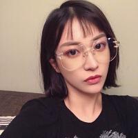 2018新款透明平光镜女素颜大框网红眼镜框架潮软妹个性眼睛男