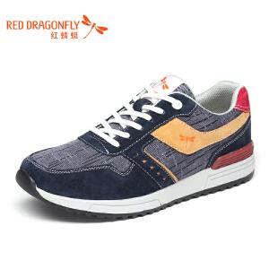 红蜻蜓男鞋 2017春季新款潮流运动休闲帆布鞋