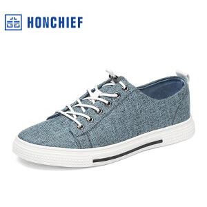 HONCHIEF 红蜻蜓旗下 2017春秋新款时尚透气布鞋潮流男士休闲鞋