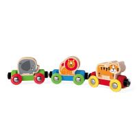 Hape丛林动物火车18个月以上儿童早教火车轨道配件玩具婴幼玩具木制玩具E3807