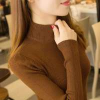高领毛衣女士打底衫长袖线衣2019秋冬新款内搭修身紧身针织衫