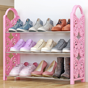 亚思特铁艺简易鞋架 多层收纳鞋柜简约组装防尘鞋架子XJH163