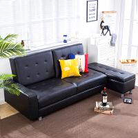 亿家达 沙发 客厅皮艺沙发三人多功能组合沙发简约现代小户型沙发