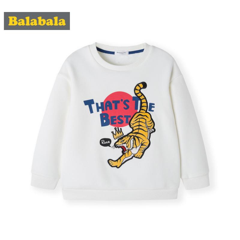 巴拉巴拉男童长袖T恤秋冬2019新款童装小童宝宝打底衫加绒韩版潮