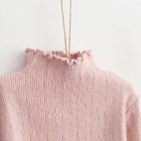 童装2017新款装韩版女童打底衫儿童毛衫宝宝纯色半高领兔绒毛衣