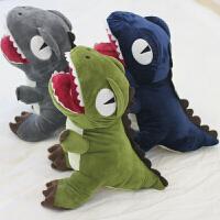 恐龙公仔暖手抱枕插手毛绒可爱玩具搞怪霸王龙女生暖手捂萌