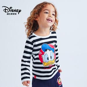 迪士尼宝宝极速光轮男童针织百搭长袖T恤2018秋款上新