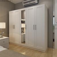 现代简约经济型板式衣柜 整体木质三四五门卧家具室大衣橱立柜