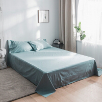 素色简约纯棉学生单人床单单件全棉双人加大被单1.5米1.8m2.0